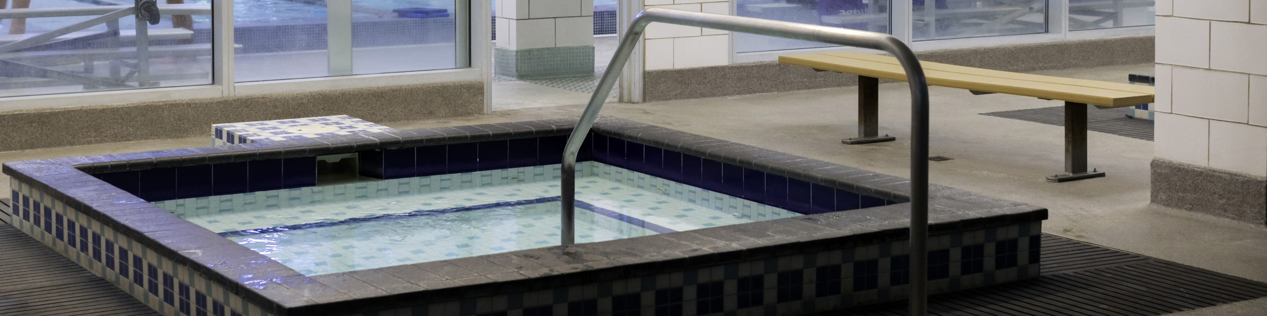 The hot tub at the Leach Center Pool