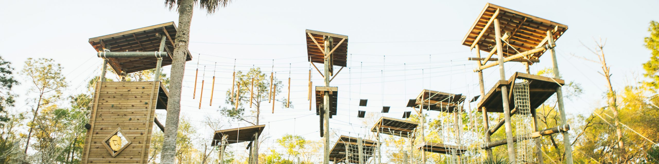 The challenge course over at the Rez