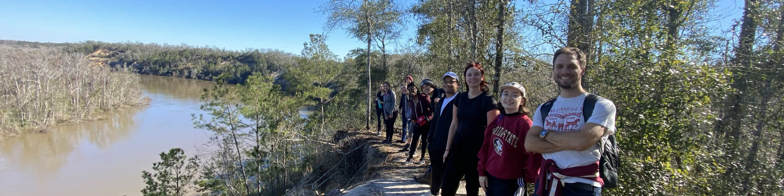 A group of people on a hike