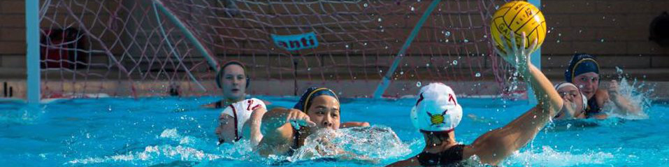 Girl playing water polo