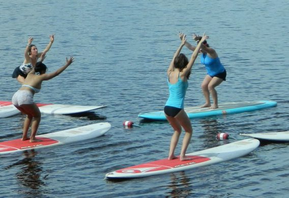 Stand Up Paddle-boarding Yoga