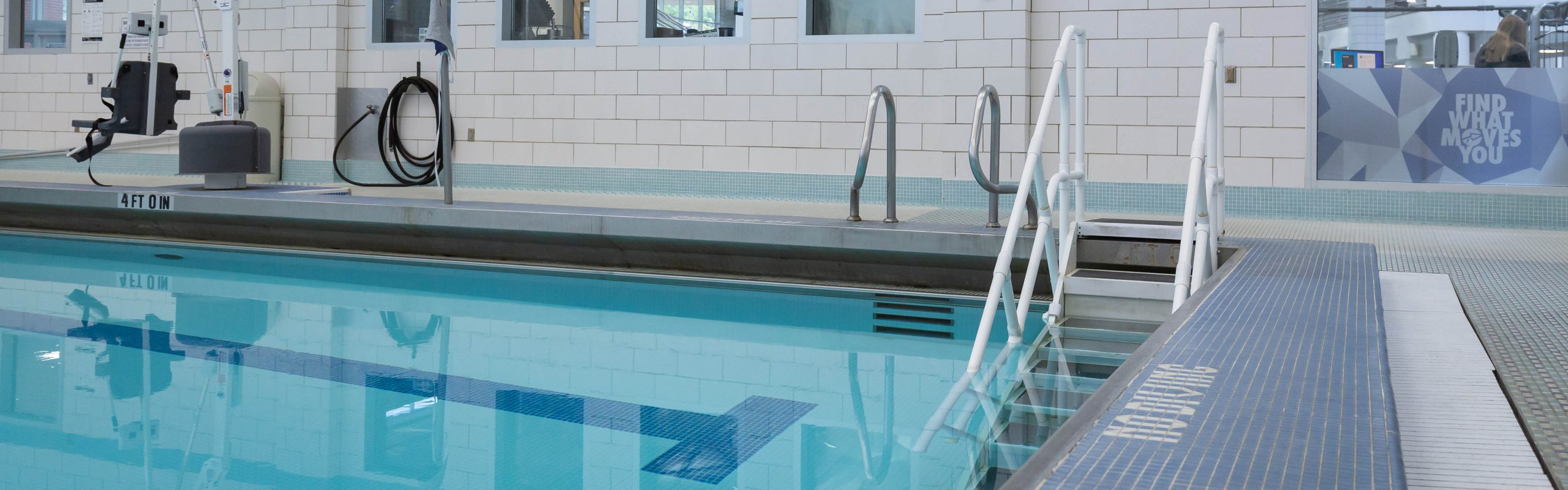 Leach Pool ADA Accessible Stairs